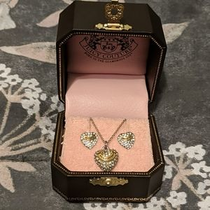 Juicy Couture classic earring and necklace set